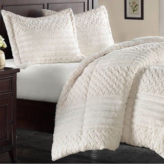 Premier Comfort Silverton Fur Down Alternative 3-piece Comforter Set