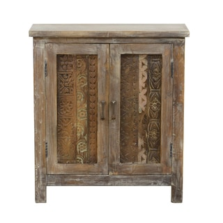 Kaya Vintage-inspired Carved Cabinet