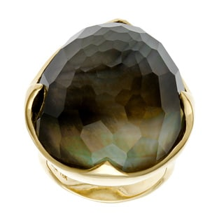 Ippolita 18k Yellow Gold Rock Candy King Black Shell Doublet Ring