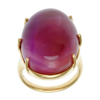 Ippolita 18k Yellow Gold Rock Candy Gelato Kiss In Amethyst and Peach Moonstone Doublet Ring