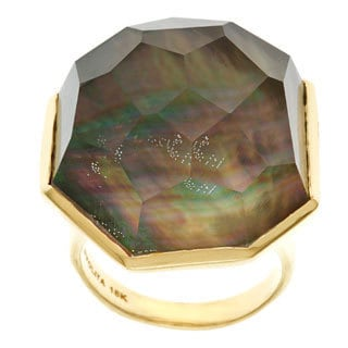 Ippolita 18k Yellow Gold Modern Rock Candy Large Ack Shell Ring