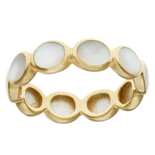 Ippolita 18k Yellow Gold Oval Mother of Pearl Polished Rock Candy Band Ring