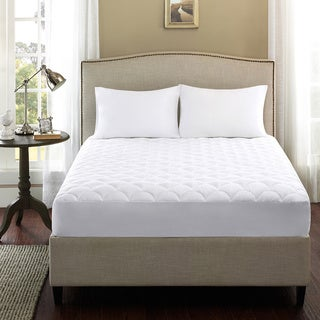Madison Park Woodland 300 Thread Count Dobby Dot Mattress Pad