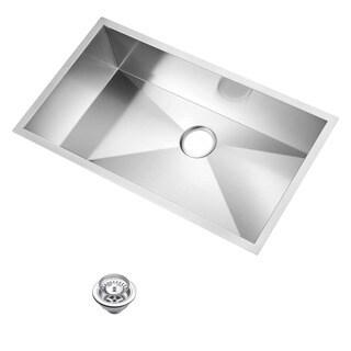 Water Creation 'SSS-U-3319A' 33x19-inch Stainless Steel Undermount Kitchen Sink Set