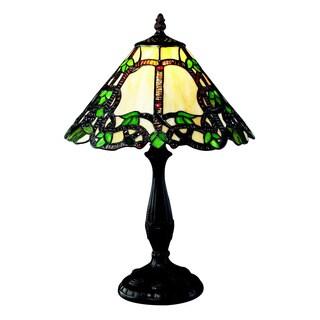 Z-Lite 1-light Multicolor Tiffany-style Bronze Table Lamp