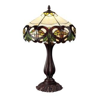 Z-Lite 1-light Multicolored Tiffany-glass Table Lamp