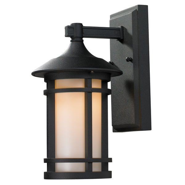 Z-Lite Matte Opal Outdoor Wall Light