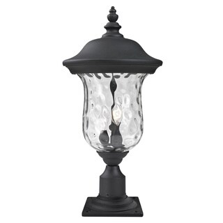 Z-Lite Clear Water Glass Outdoor Post Mount Light