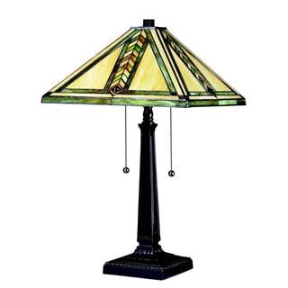Z-lite Multi Color Tiffany, Chestnut Bronze Metal 2-light Table Lamp