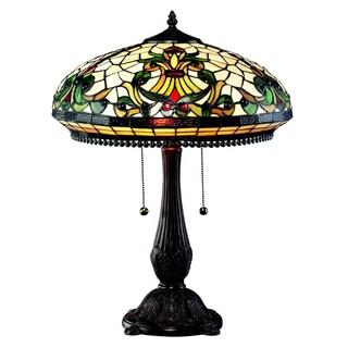 Z-Lite 24-inch Chestnut Bronze Multicolor Tiffany 2-light 60-watt Table Lamp