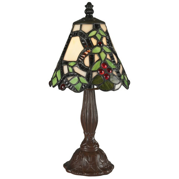 Z-Lite 12-inch Mini Multicolor Tiffany Table Lamp