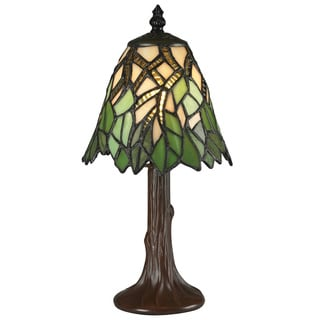 Z-Lite Mini Multicolor Chestnut-bronze Tiffany Table Lamp