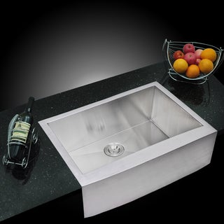 Water Creation SSS-AS-3022A 30x22-inch Stainless Steel Apron Front Kitchen Sink Set
