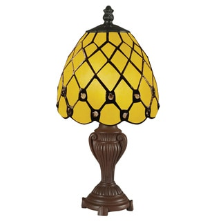 Z-Lite Mini Multicolor Tiffany Table Lamp with Glass Shade