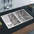 Water Creation 'SSSG-U-3118A' 31x18-inch 50/50 Stainless Steel Undermount Kitchen Sink Set