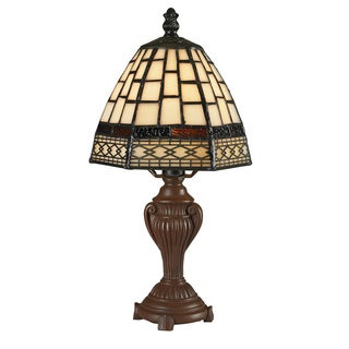 Z-Lite Mini Multicolor Stained-glass Tiffany Table Lamp