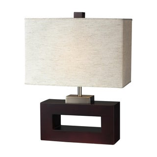 Z-Lite 1-light Mahogany Wood Table Lamp