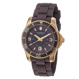 Swiss Army Men's 241608 'Maverick' Brown Dial Brown Rubber Strap Watch