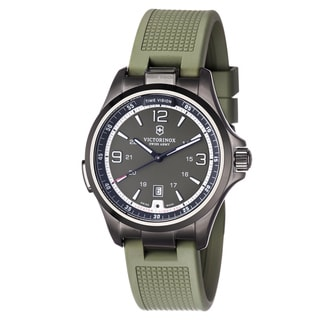 Swiss Army Men's 241595 'Night vision' Green Dial Green Rubber Strap Watch