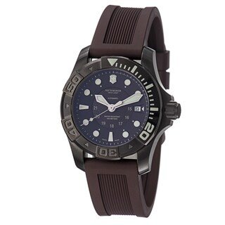 Swiss Army Men's 241562 'DiveMaster500' Brown Dial Brown Rubber Strap Watch
