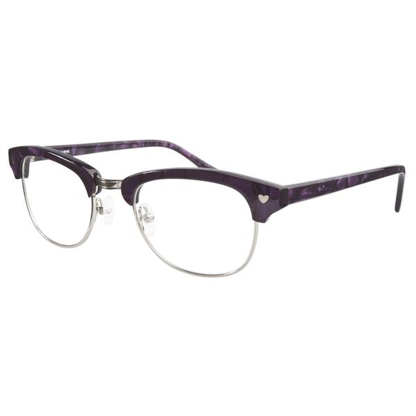 Love L756 Purple Silver Prescription Eyeglasses