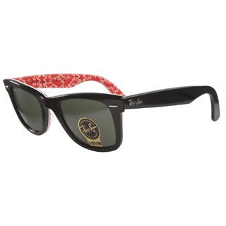 Ray-Ban RB2140 1016 Black on Red White 50 Sunglasses