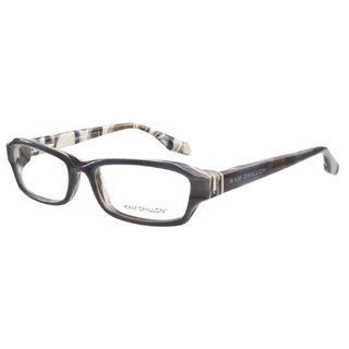 Kam Dhillon 3036 Blue Pattern Prescription Eyeglasses