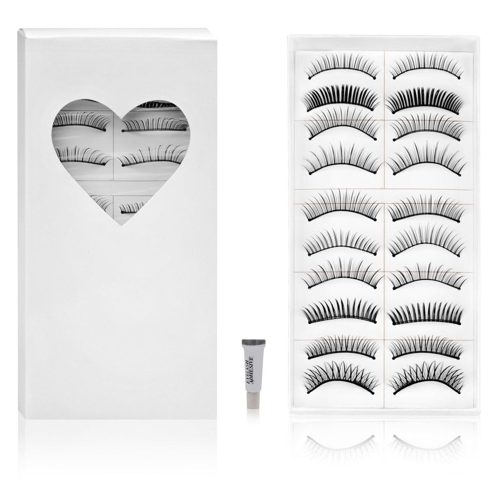 SHANY Cosmetics Shany Long Black Natural False Eyelashes (10 Pair) at Sears.com