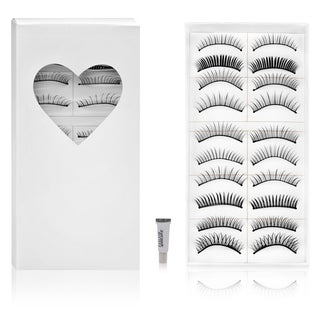 Shany Long Black Natural False Eyelashes (10 Pair)