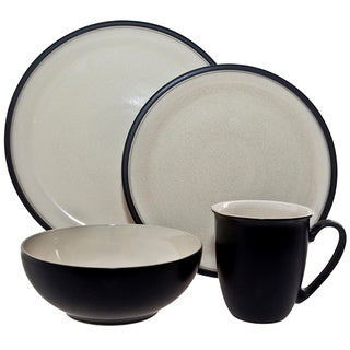 Denby 'Dine' 4-piece Black Place Setting