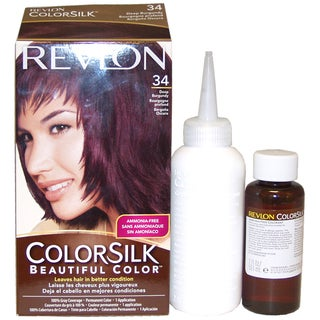 Revlon ColorSilk Beautiful Color #34 Deep Burgundy Hair Color