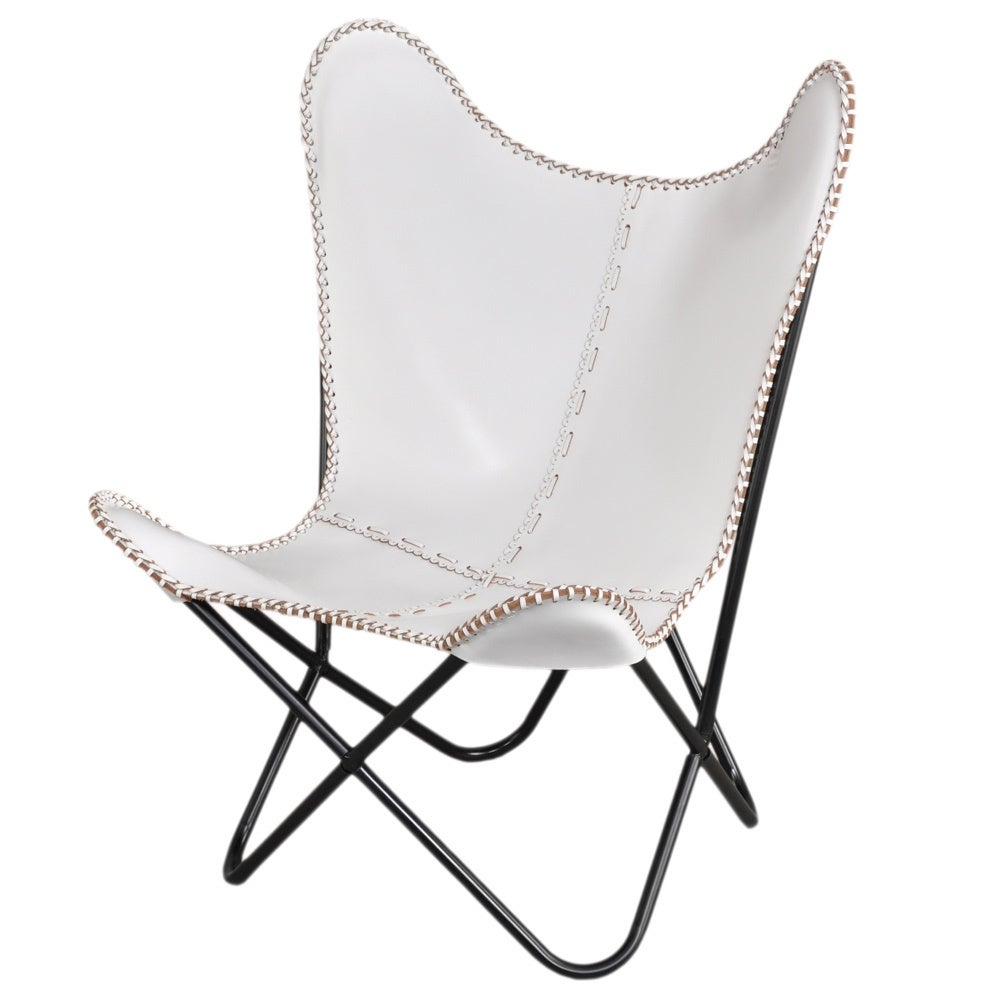 Idea nuova realtree outdoor butterfly papasan chair - White Leather Butterfly Chair Overstock Shopping