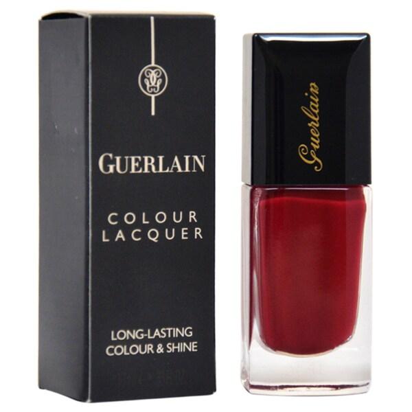 Guerlain #168 L'Heure Bleue Red Nail Polish