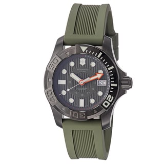 Victorinox Swiss Army Men's 241560 'Dive Master 500' Green Dial Green Rubber Strap Watch