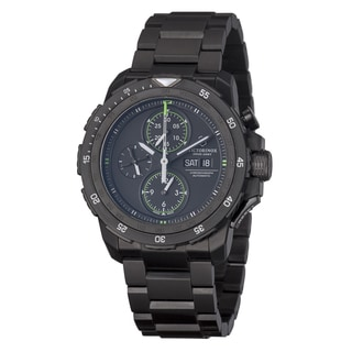 Victorinox Swiss Army Men's 'Alpnach' Black Dial Black Stainless Steel Watch