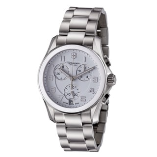 Swiss Army Men's 241538 'Chrono Classic' White Dial Stainless Steel Watch
