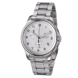 Victorinox Swiss Army Men's 'Officers' Silver Dial Stainless Steel Quartz Watch