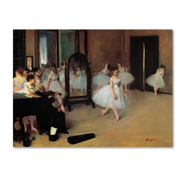 Edgar Degas 'The School of Dance 1871' Canvas Art