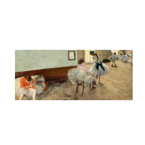 Edgar Degas 'The Dance Lesson 1879' Canvas Art
