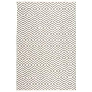 Nourison Mesa Geometric Grey Rug (5' x 7'6)