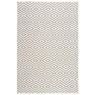 Nourison Mesa Geometric Grey Rug (7'6 x 9'6)