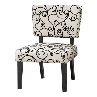 Linon Taylor White/ Black Accent Chair