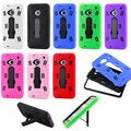 Gearonic 3 Piece PC Silicone Cover Case for HTC One M7