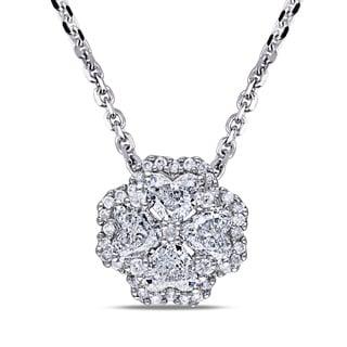 Miadora 14k White Gold 4/5ct TDW Diamond Necklace (G-H, I1)