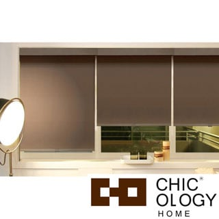 Chicology Mountain Chocolate Cord Free Roller Shade with Valance