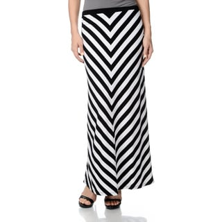 Chelsea & Theodore Women's Striped Maxi Skirt