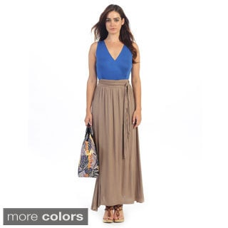 Women's Contemporary Color Block Maxi Dress