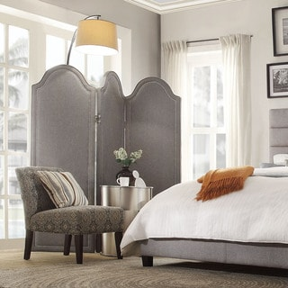 INSPIRE Q Ainslie Grey Linen Curved Top 3-Piece Divider