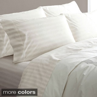 Hotel Grand 600 Thread Count Egyptian Cotton Stripe 6-piece Sheet Set