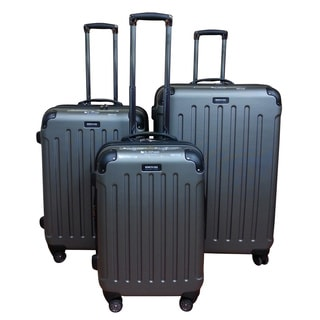 Kenneth Cole Silver Renegade 3-piece Hardside Spinner Luggage Set